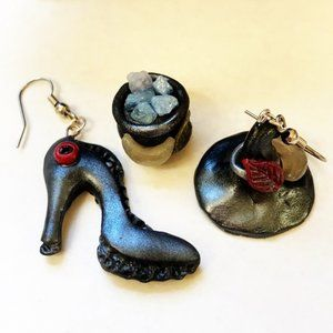 Witch 🧙♀️ Hat & Boot Polymer Clay Earrings